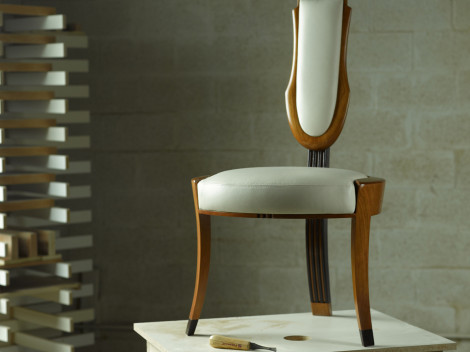 high end vanity chairs by designer paul jeffrey by paul rene furniture and cabinetry phoenix scottsdale az