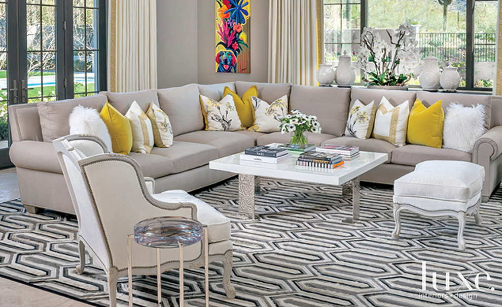 Luxe magazine featuring salcito coffee by paul rene furniture and cabinets phoenix scottsdale