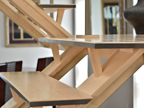 custom wood staircases contemporary by paul rene furniture and cabinets phoenix scottsdale