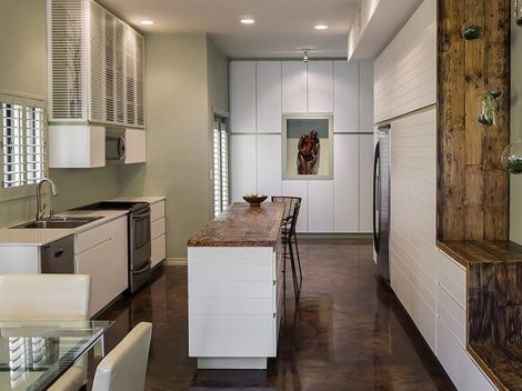 contemporary kitchen remodeling painted white, with island, phoenix scottsdale az