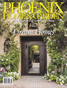 phoenix home and garden magazine featuring paul rene furniture