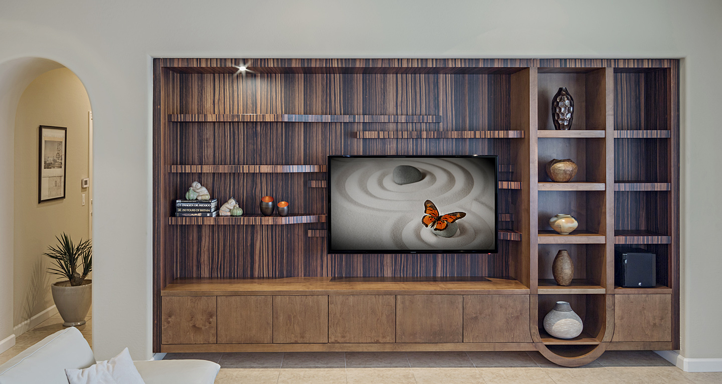 Modern Custom Media Wall And Home Entertainment Center Design