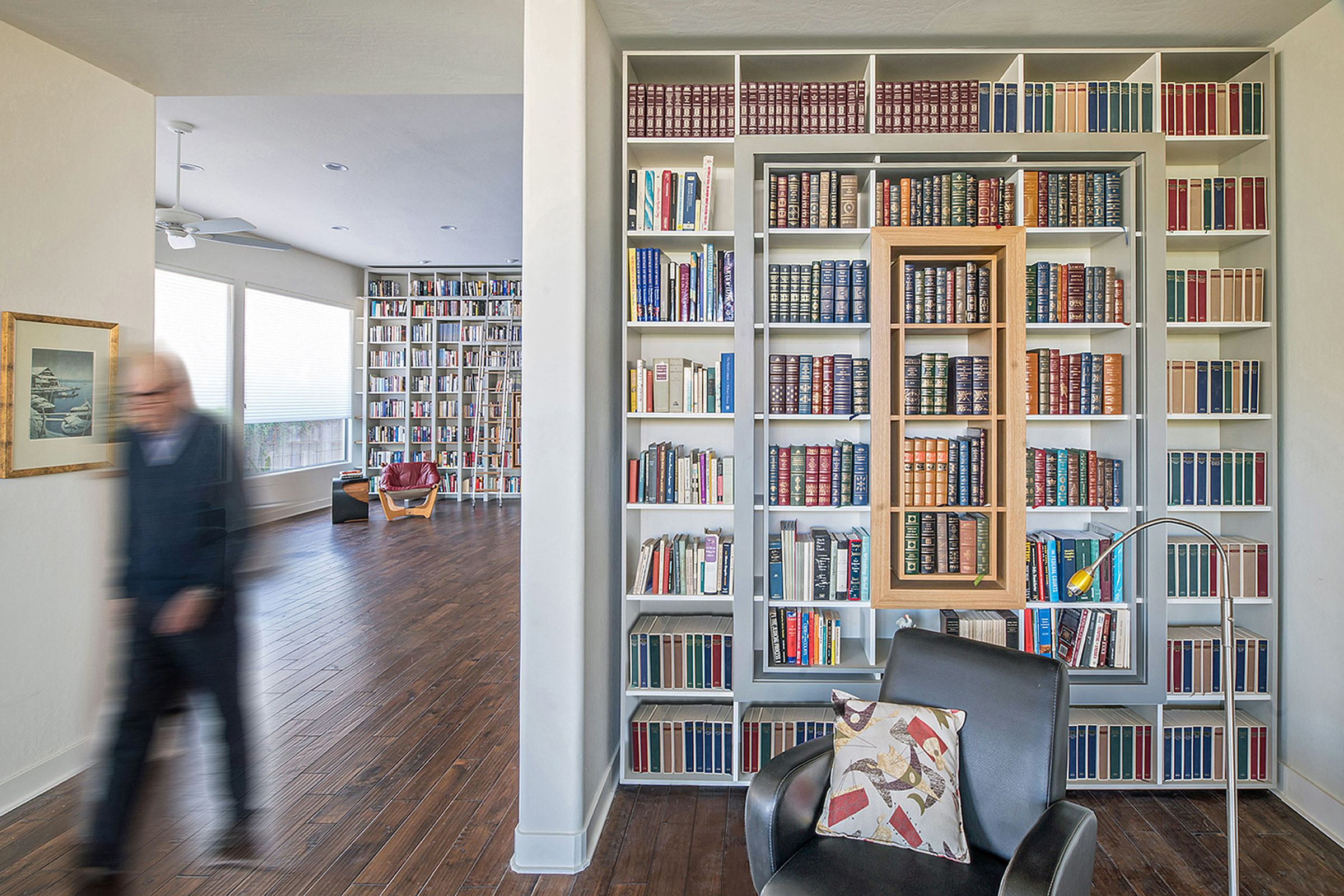 custom libraries with rolling ladders