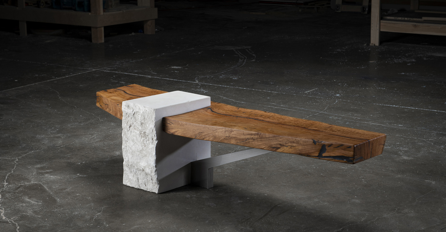 modern rustic coffee table alabaster and rosewood