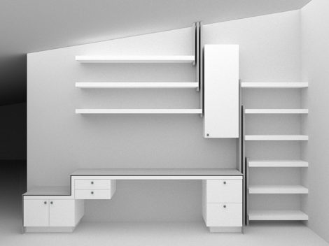 KUKLOK office rendering by paul rene furniture and cabinets phoenix az