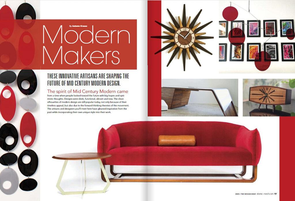 atomic ranch design magazine article featuring paul jeffrey of paul rene custom modern furniture phoenix scottsdale