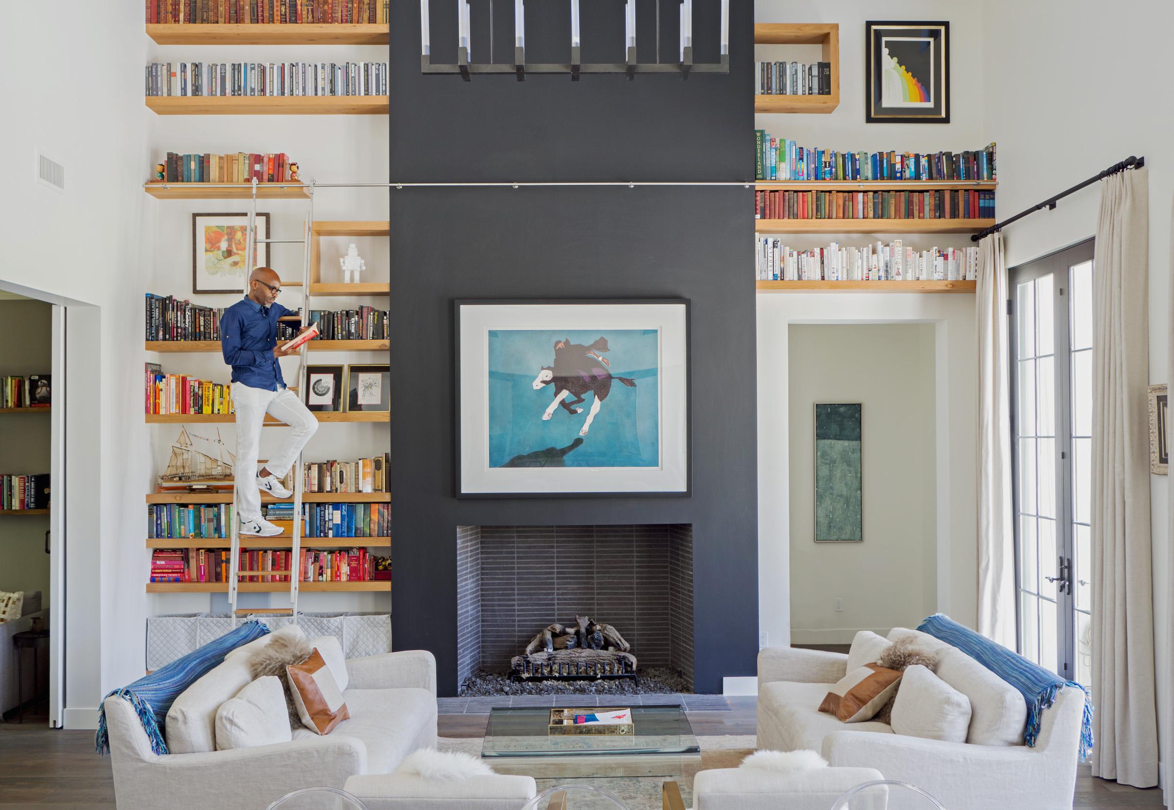 Floating Modern Bookshelves White Oak