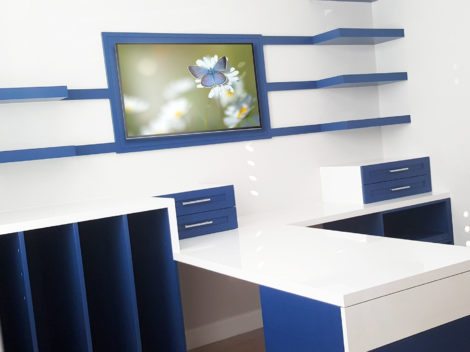 contemporary custom office furniture with mixed materials by paul rene furniture phoenix az