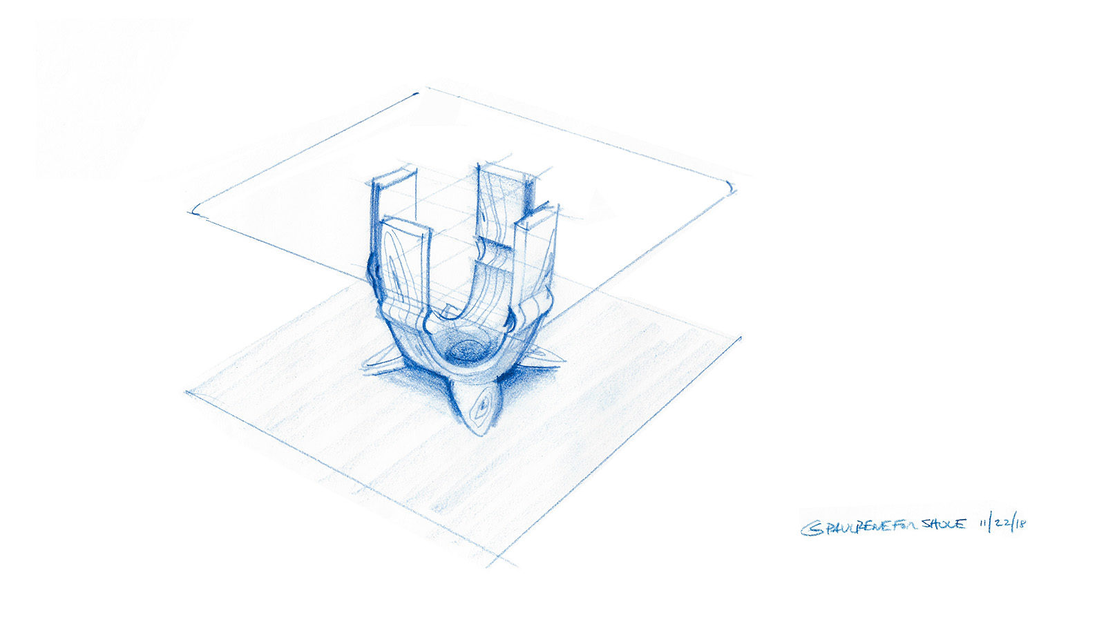 hand sketch by paul jeffrey