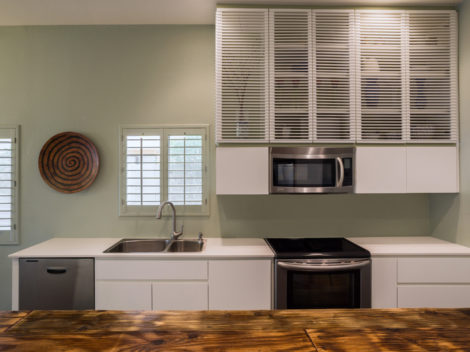 custom designed rustic and white shaker cabinet designed by paul rene furniture and cabinetry phoenix az