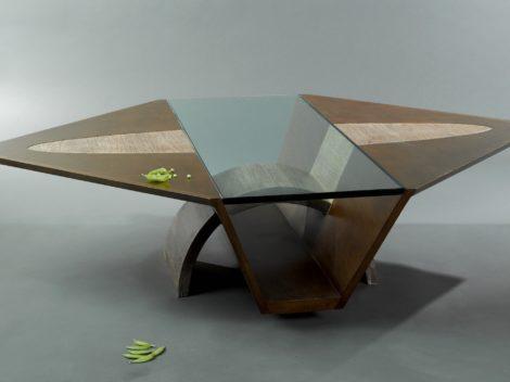 custom hawk's nest coffee table by paul rene furniture and cabinetry phoenix az 2015