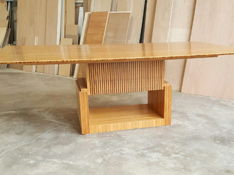 custom plyboo dining table by paul jeffrey of paul rene furniture phoenix az