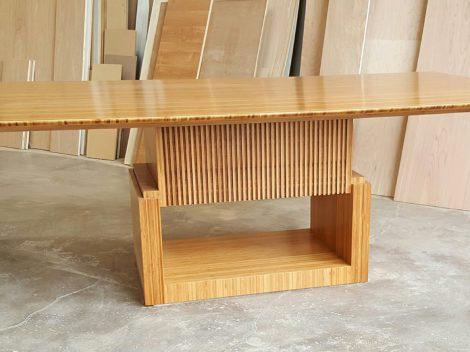 custom plyboo dining table for Moss by paul jeffrey of paul rene furniture phoenix az
