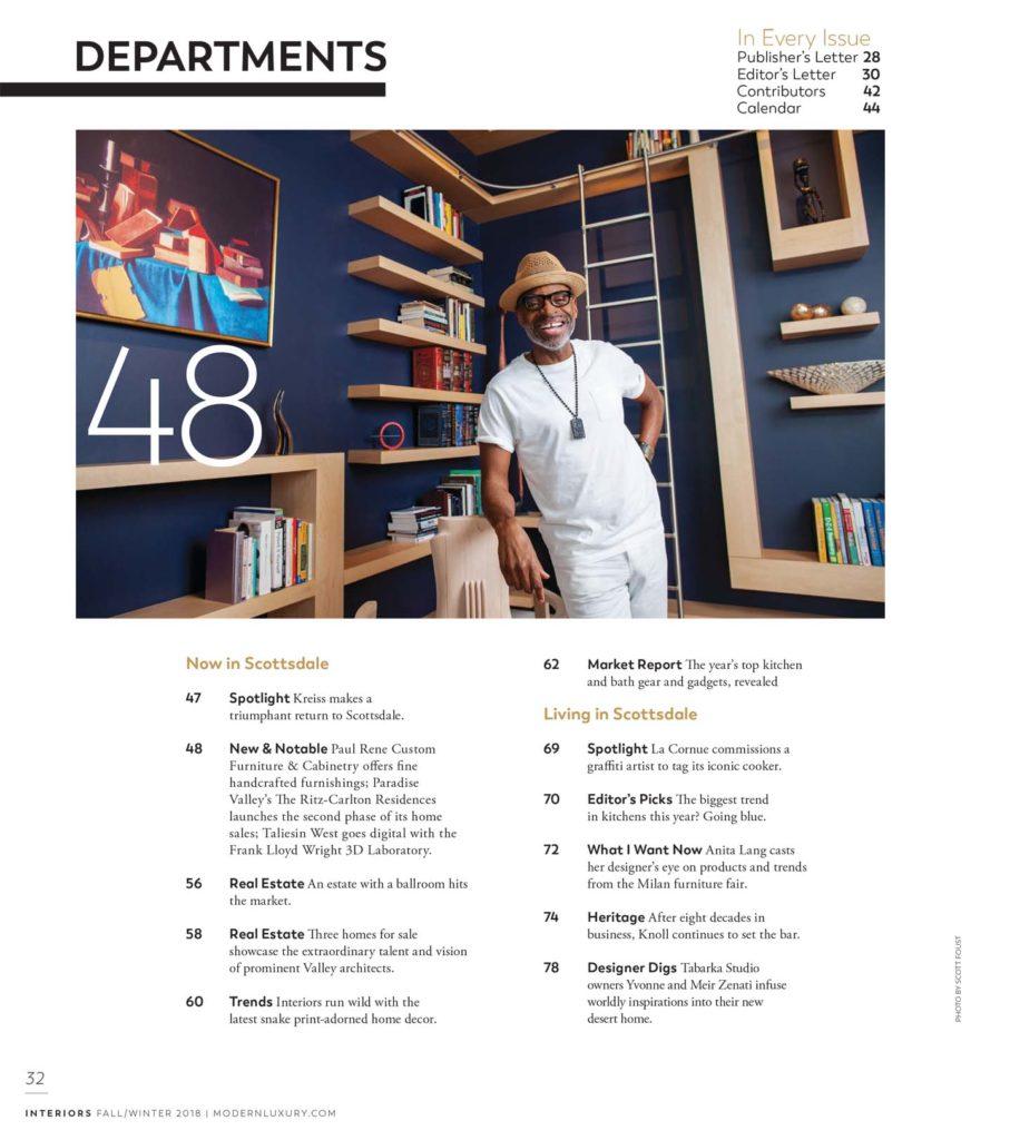 paul jeffrey in Interiors Magazine Scottsdale AZ
