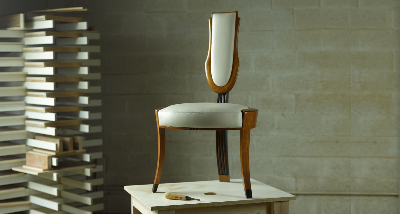 cherry wood modern dining chairs