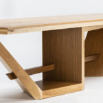 modern solid hickory wood dining table tutsch custom hickory dining table end view by paul jeffrey of paul rene