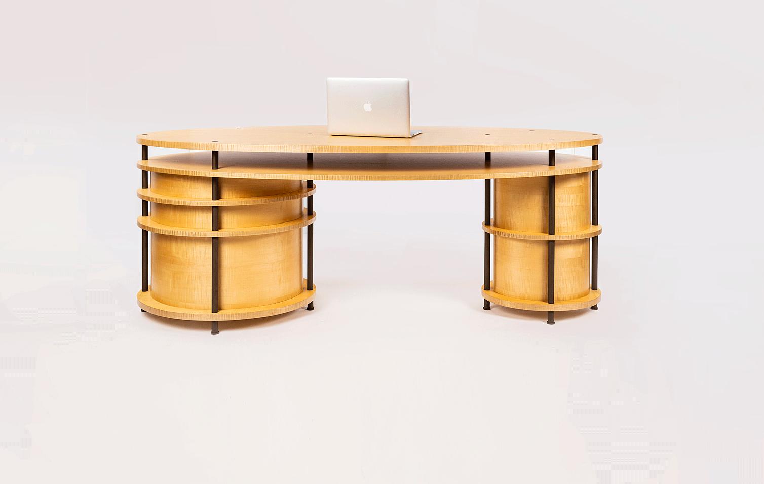 wood modern office desk